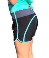 Runner's Dream 5 Pocket Short - Black with Teal