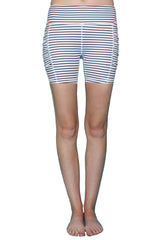 Black & White Stripe 5 inch - Pocket Short