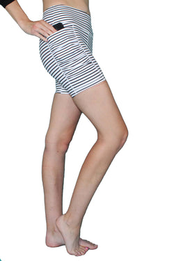 Black & White Stripe 5 inch - Pocket Short - RESTOCKED