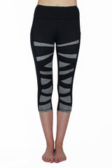 Black and Gray Weave - Pocket Capri