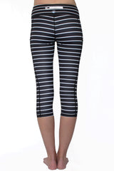 Black and White Stripe 2.0 - Pocket Capri