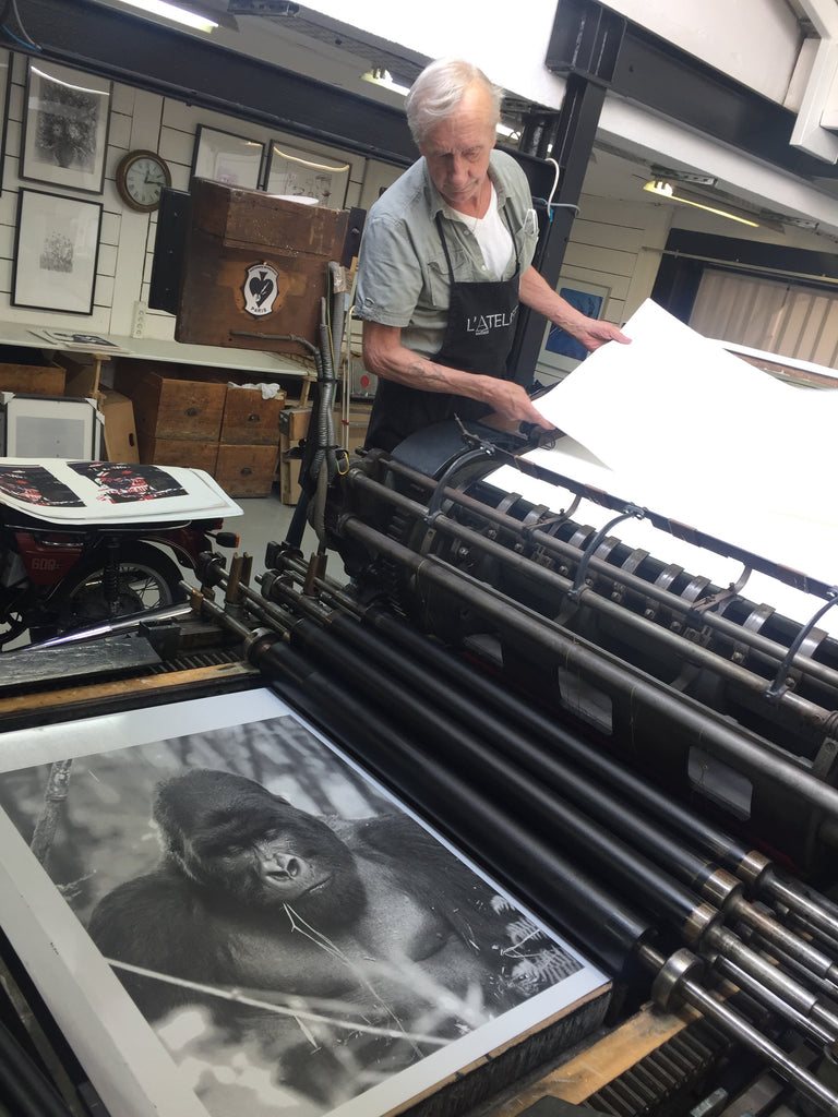 Lithography as seen into Parisian workshop ANTHESE by Stéphane Gautronneau