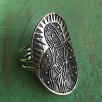 Long Oval OLG Sterling Silver Ring