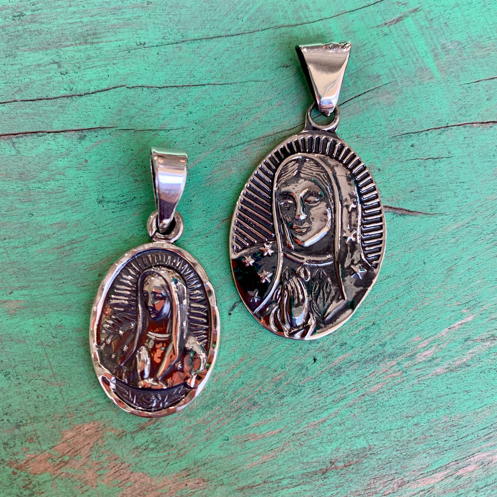 Our Lady of Guadalupe Oval Pendant