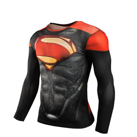 Men's Superman Compression Long Sleeve Shirt