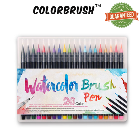 ColorBrush™ - 20 Colors Soft Flexible Tip Water Brush Pen!