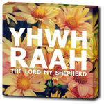 "YHWH RAAH - The Lord My Shepherd - 12""x12"" Wrapped Canvas Print"