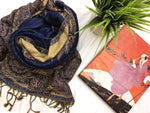 Thicker Pashmina Blue Paisley