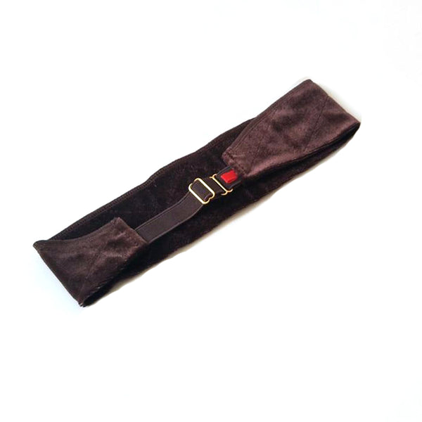 Anti-Slip Headband with Adjustable Strap - Dark Brown (Shipping: 2-4 Weeks)