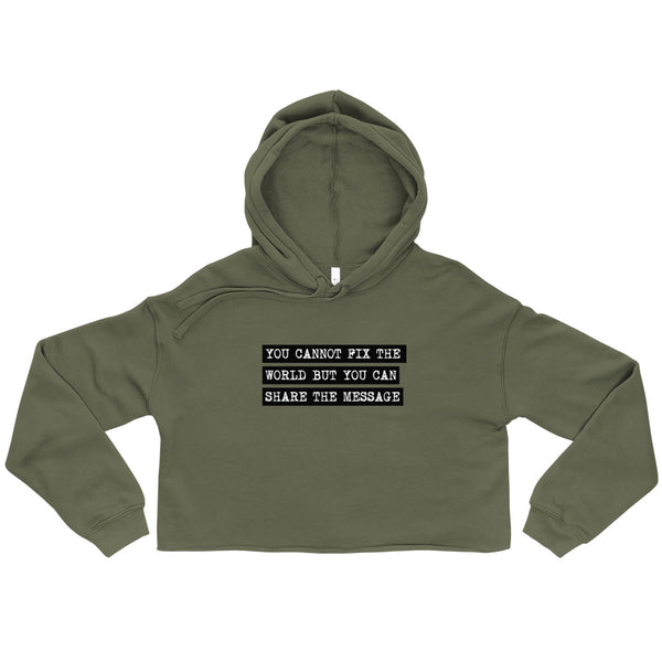 One Person at a Time Crop Hoodie