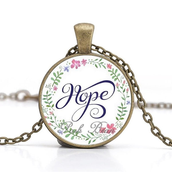"""Hope"" Vintage Bible Verse Necklace (Shipping: 2-4 Weeks)"