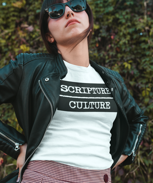 Scripture Over Culture Ladies' Tee