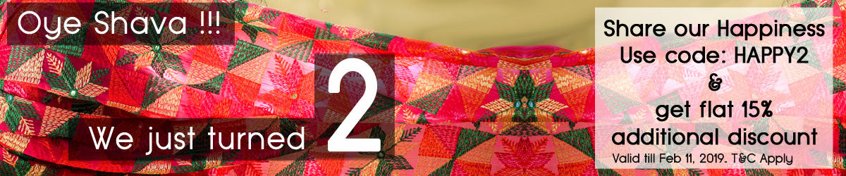 Justphulkari 2nd Bday Offer - Coupon: HAPPY2