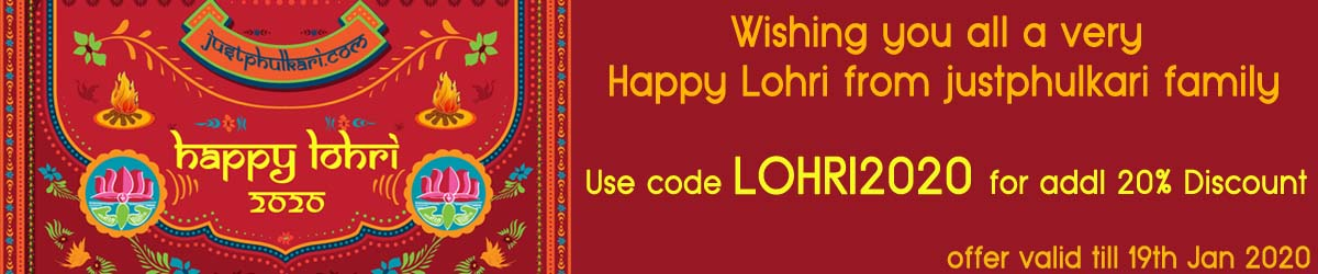 Justphulkari Offer - Coupon: LOHRI2020