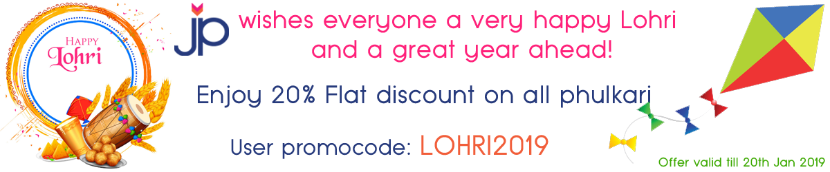 Justphulkari Lohri Offer - Coupon: LOHRI2019