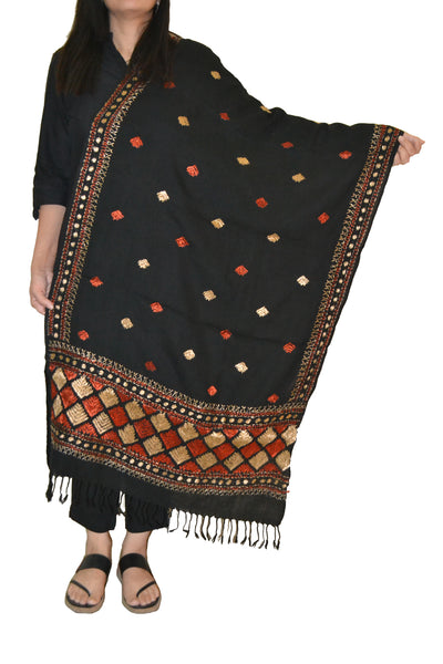 Just Phulkari Hand Embroidery Shawl