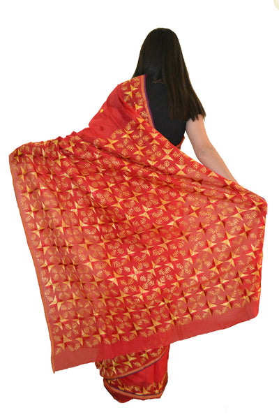 Just Phulkari Hand Embroidery Saree