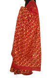 JustPhulkari Red Saree