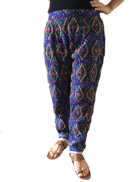 Just Phulkari Hand Embroidered Phulkari Pants