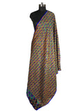 Just Phulkari Cotton Bagh Blue
