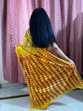 Hand Embroidery Phulkari Saree