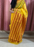 Yellow Phulkari Saree