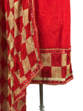 Two Color Phulkari Suit With Dupatta