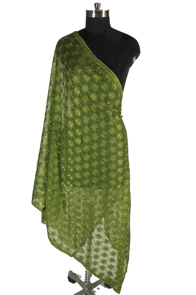 Just Phulkari Mehndi Color Dupatta
