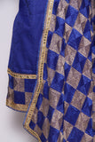 Two Color Phulkari Suit With Bagh Embroidery