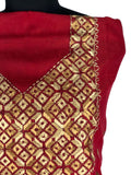 JustPhulkari Red Kurta Gold Embroidery
