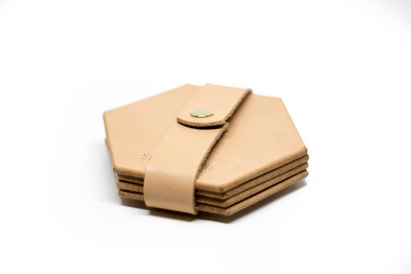 Hex Coasters — Natural