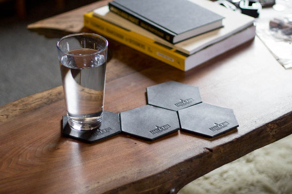Hex Coasters — Black