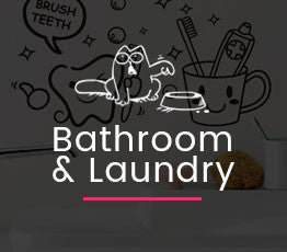bathroom and laundry decal collection banner