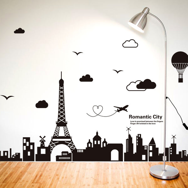 Eiffel Tower Living Room Decal