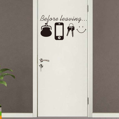 Before Leaving Reminder Quote Wall Sticker