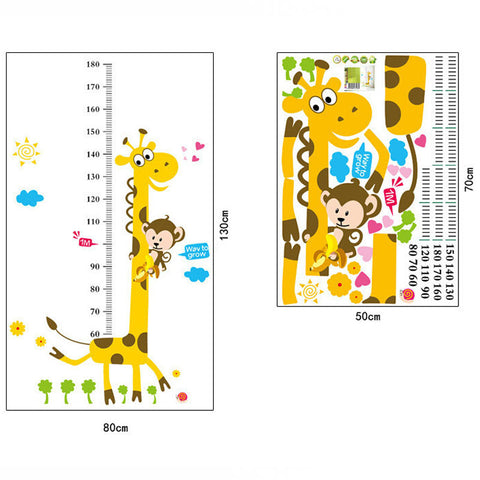 Giraffe Measurement Kids Decal