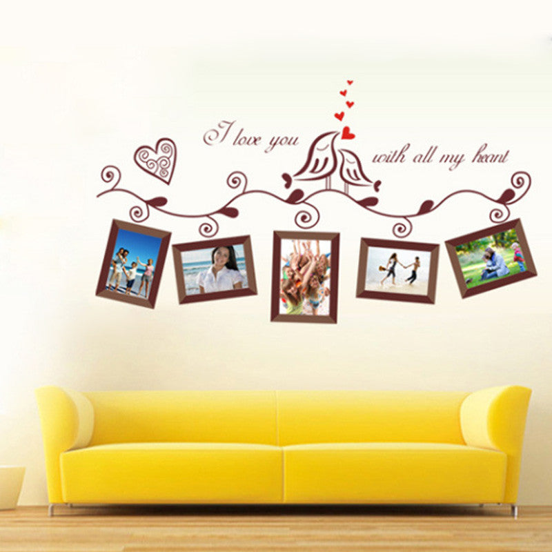 I Love You Birds Photo Frame Wall Decal And Wall Stickers Part 76