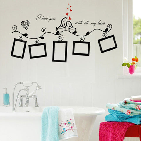 I love you Birds Photo Frame Wall Decal and Wall Stickers