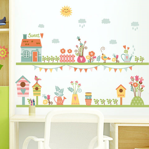 Garden Flowers Sweet Home Stickers