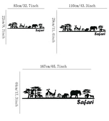 Safari Living Room Decals