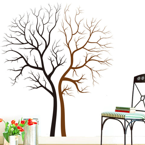 Black Brown Tree Wall Decal