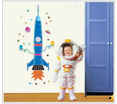 Rocket Measure Height Wall Sticker