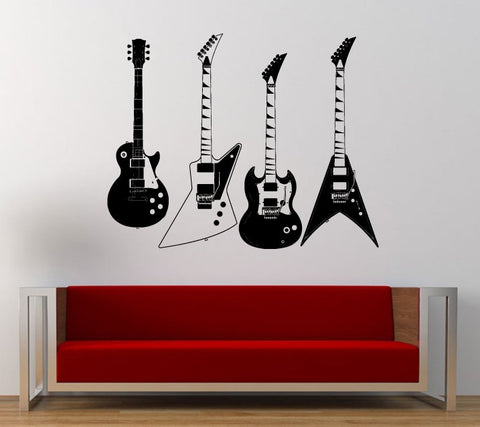 Electric Guitars Wall Decals