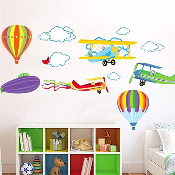 Aeroplane Sky Wall Decal