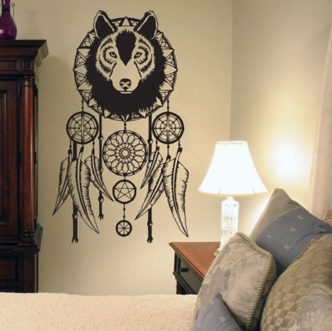 Wolf and Dreamcatcher Wall Sticker