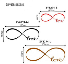 Love Infinity Symbol Wall Sticker