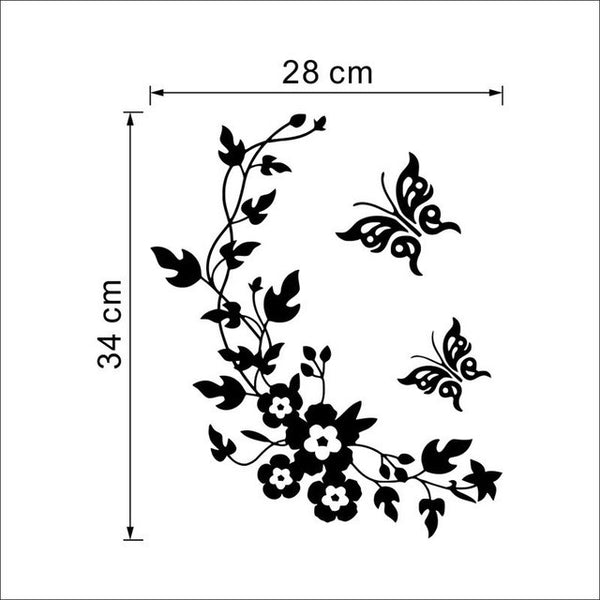 Classic Butterfly Flower Wall Sticker