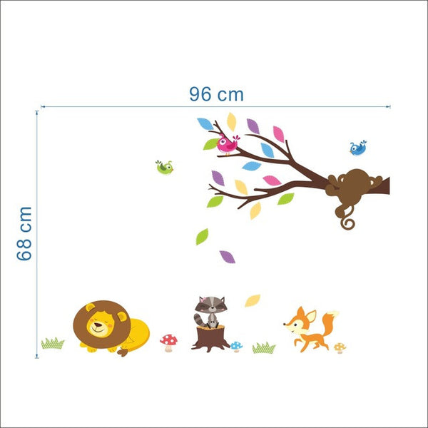 Forest Animals Tree Wall Stickers