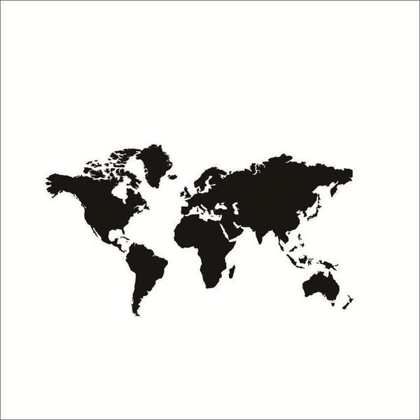 Large Size  Black World Map