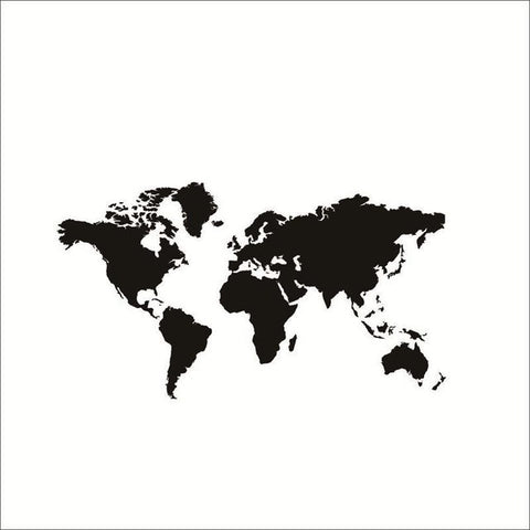 Map wall decals wall vision large size black world map gumiabroncs Choice Image